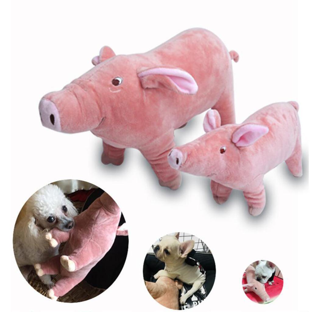 miniatura 10 - Giocattolo da masticare peluche maialino per cani piccoli e grandi