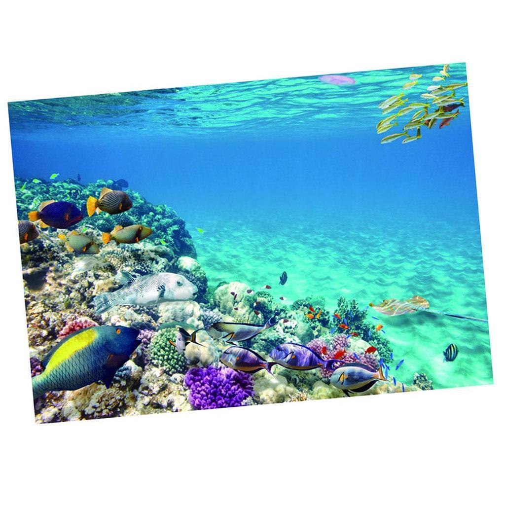Sfondo-Stampa-Adesivi-Monocromatici-Per-Acquario-Serbatoio-da-Pesca-in-PVC miniatura 9