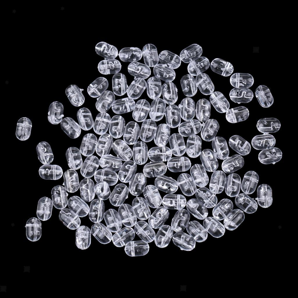 100pcs-Transparent-Oval-Beads-Cross-Transparent-Fishing-Tackle-Accessories thumbnail 3