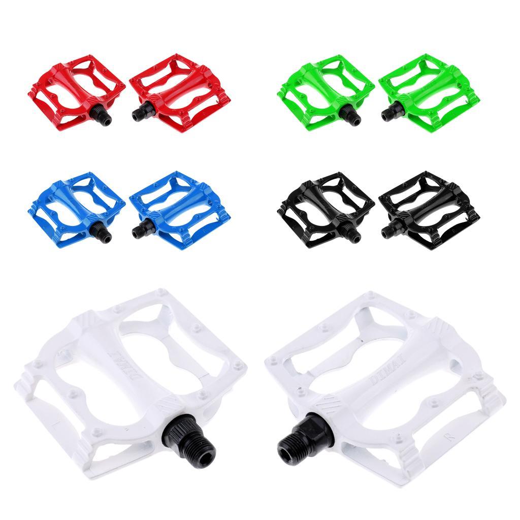 Pairs of Mountain Bike Platform Pedals Flat Sealed Bearing Bicycle Pedals 9//16