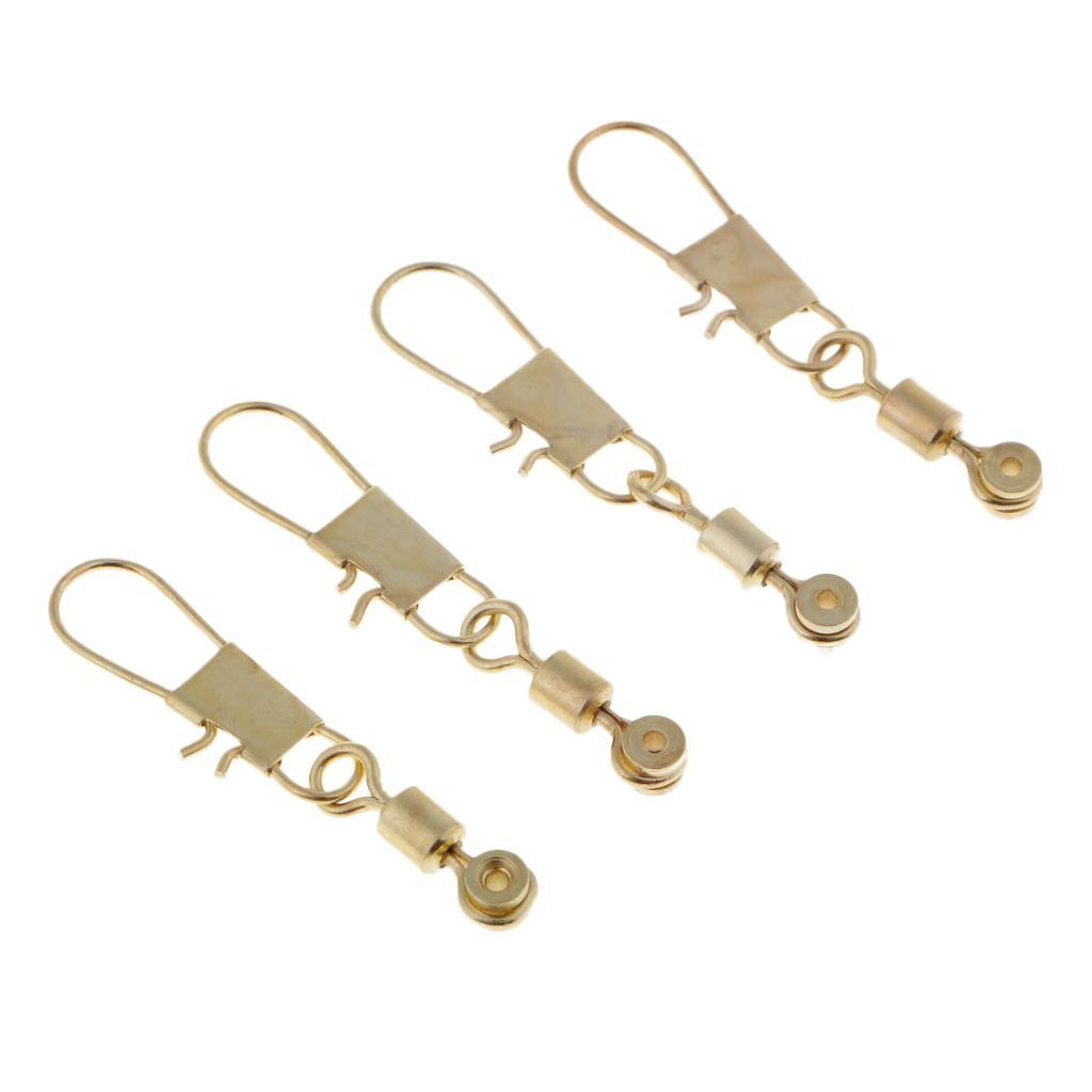 Canna-da-pesca-del-morsetto-dell-039-asta-del-connettore-girevole-50pcs miniature 9