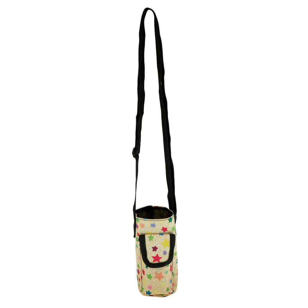 Insulated Neoprene Water Bottle Carrier Holder Bag Shoulder Strap Case 1000ML TD