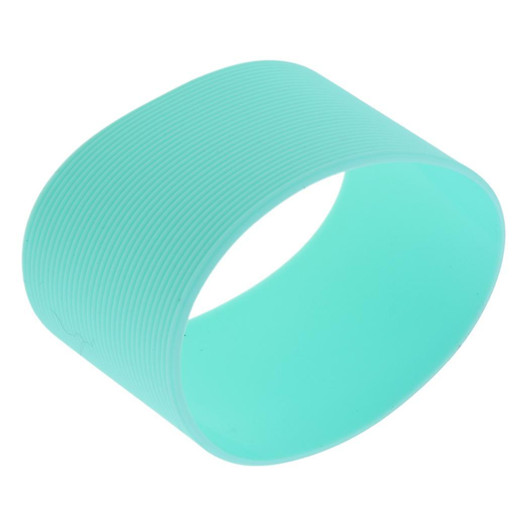 MagiDeal-Outdoors-Silicone-Round-Non-slip-Water-Bottle-Mug-Cup-Sleeve-Cover thumbnail 6