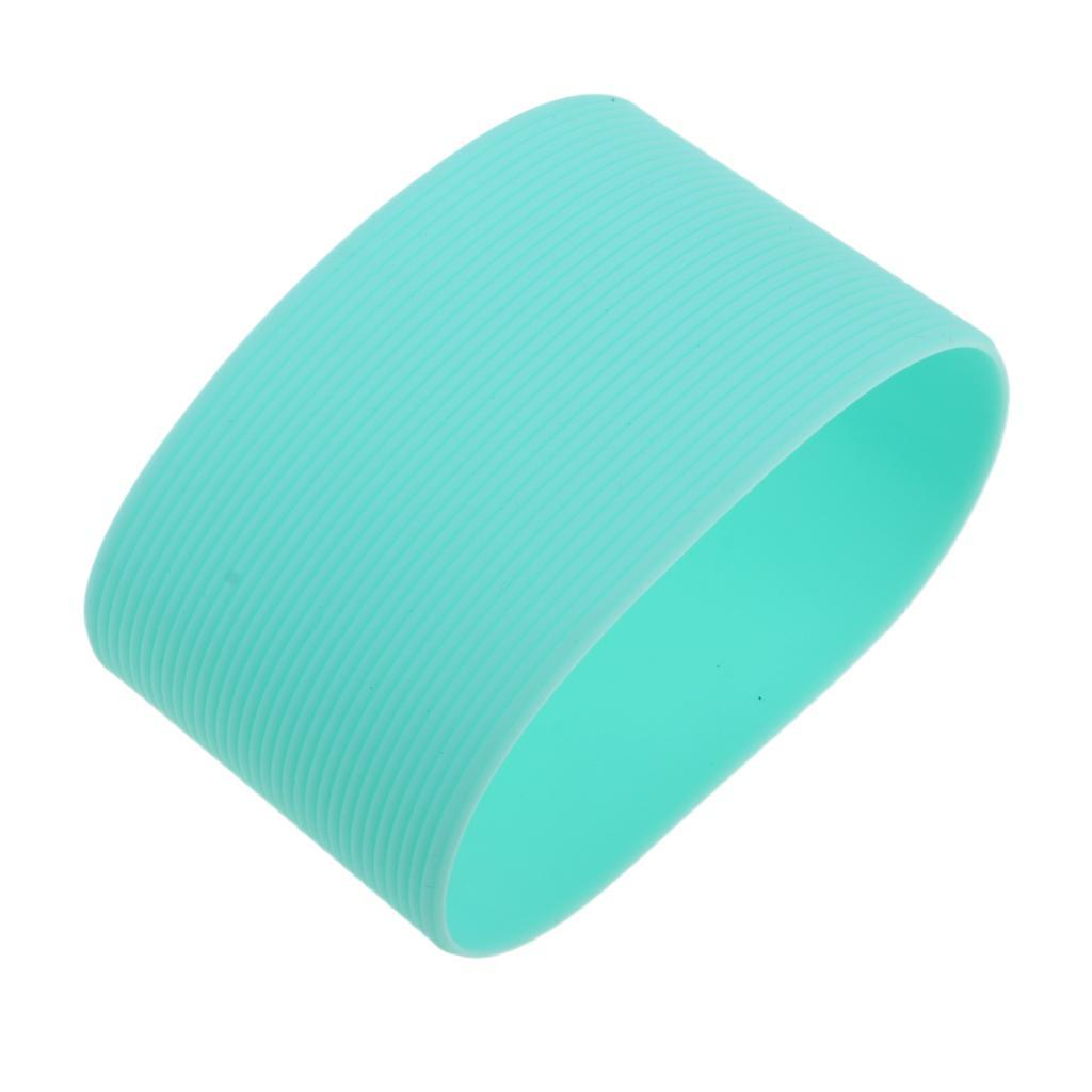MagiDeal-Outdoors-Silicone-Round-Non-slip-Water-Bottle-Mug-Cup-Sleeve-Cover thumbnail 7
