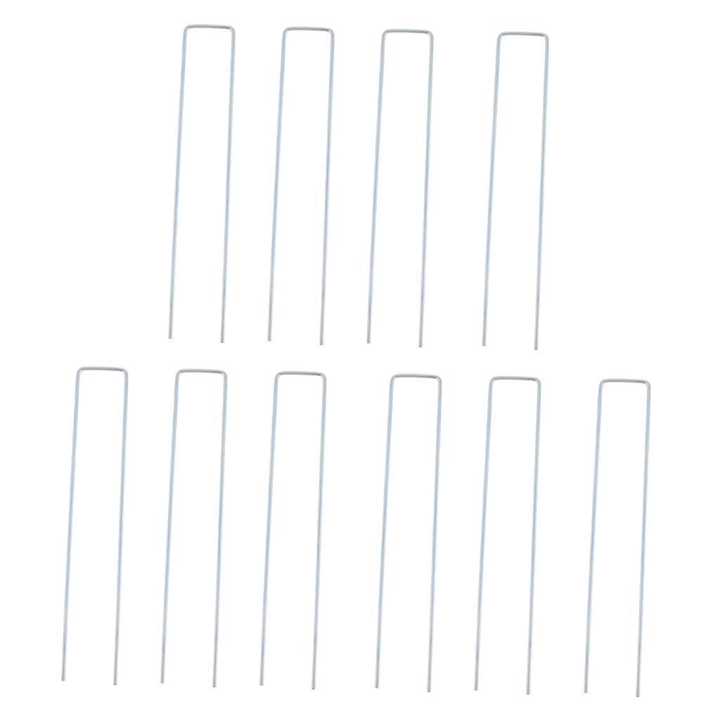 10x-Tent-Stake-U-Drawing-Metallo-Peg-Nails-Morsetti-Accessorio-per miniatura 14