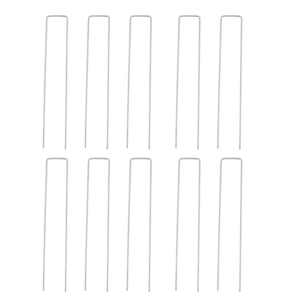 10x-Tent-Stake-U-Drawing-Metallo-Peg-Nails-Morsetti-Accessorio-per miniatura 13