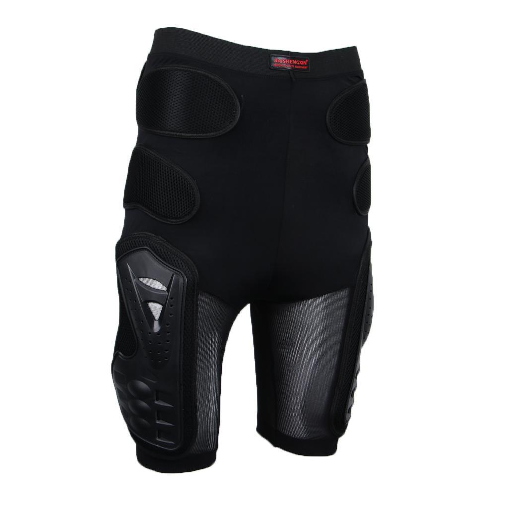 Moto-Racing-Ski-Armour-Tampons-Hanches-Jambes-Protecteur-Shorts-Pantalons miniature 3