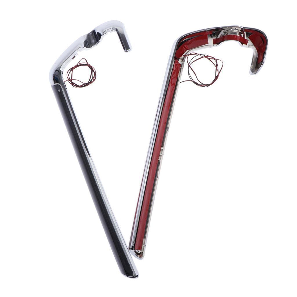 Chrome-Case-LED-Rear-Saddlebag-Lights-Red-Smoke-Lenses-For-Harley-Touring miniature 3