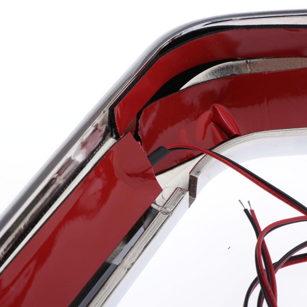 Chrome-Case-LED-Rear-Saddlebag-Lights-Red-Smoke-Lenses-For-Harley-Touring miniature 4