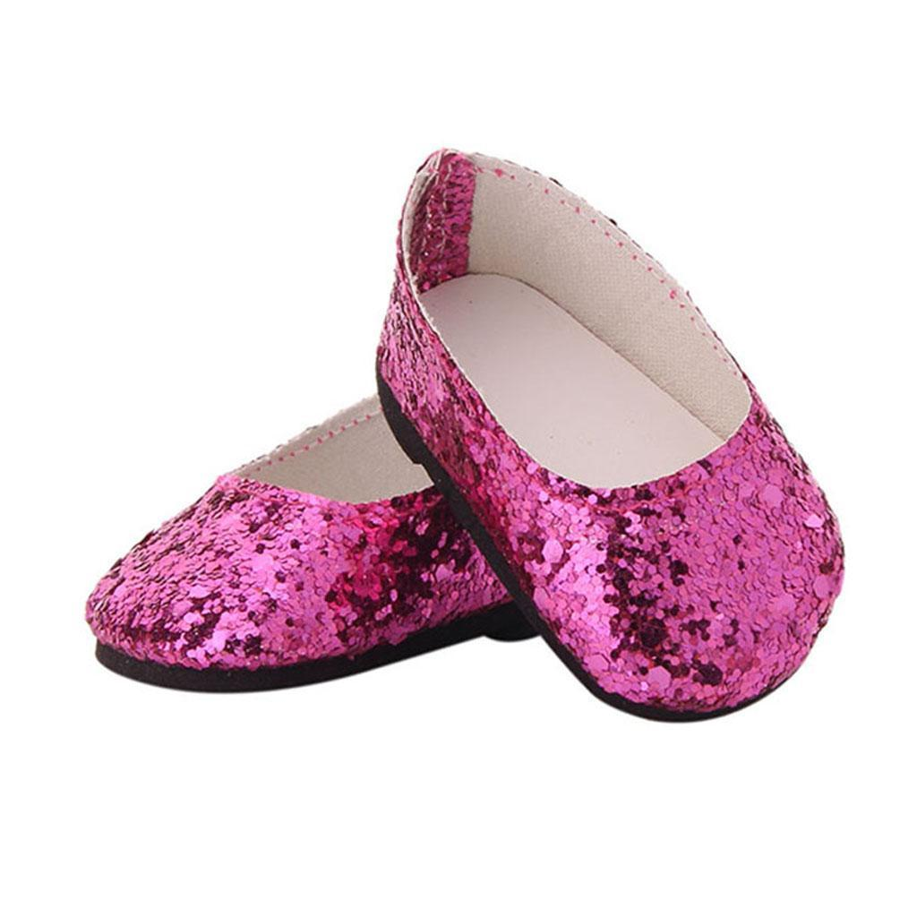 MagiDeal-Lovely-Sequin-Shoes-for-AG-American-Doll-18inch-Dolls-Clothes-Accs miniature 6