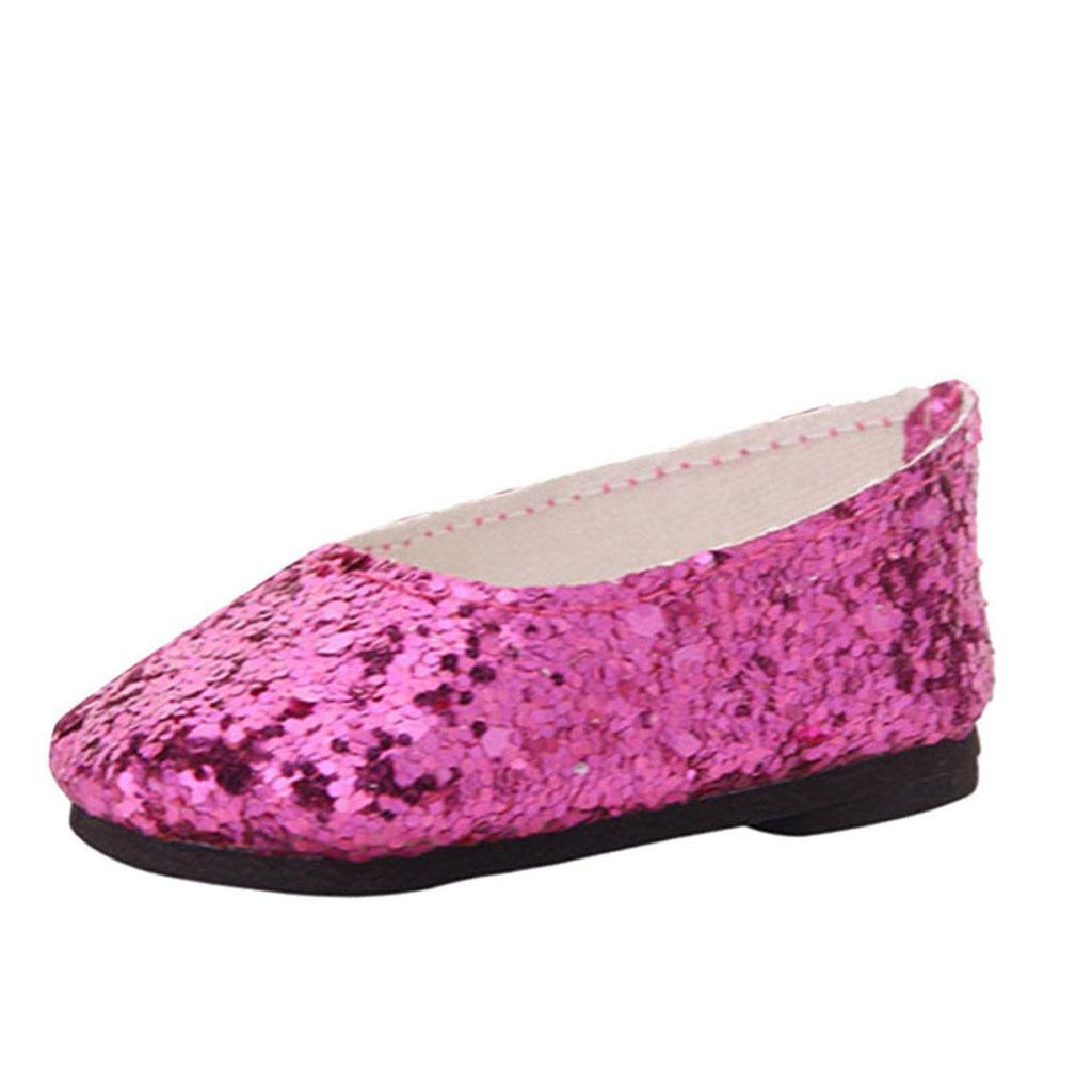 MagiDeal-Lovely-Sequin-Shoes-for-AG-American-Doll-18inch-Dolls-Clothes-Accs miniature 5