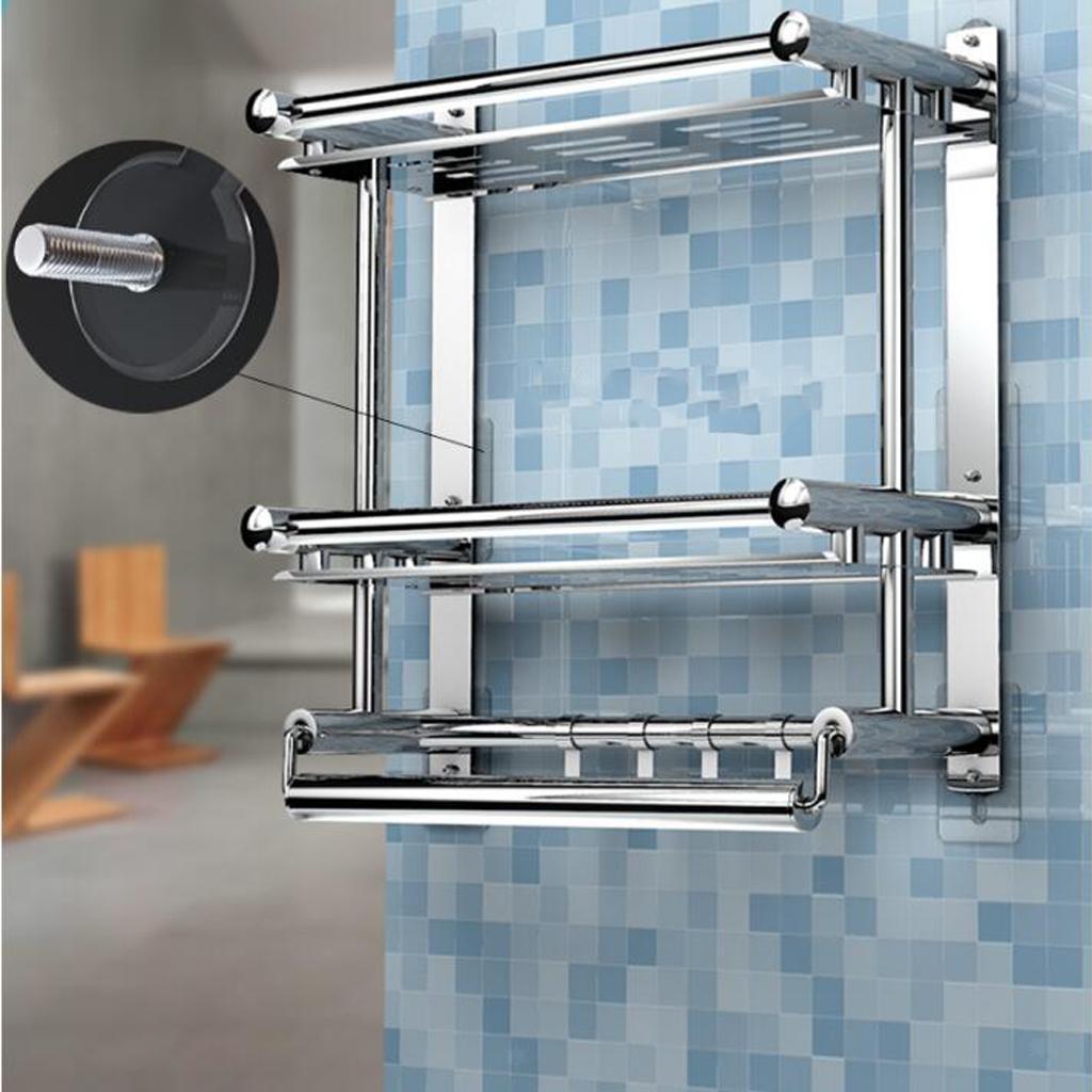 2x-Gancio-Adesivo-in-Acciaio-Inossidabile-Ultra-Forte-Adesivo-Resistente miniatura 11