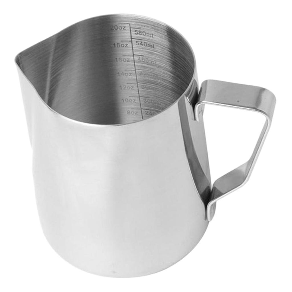 Milk-Frothing-Pitcher-Stainless-Steel-Creamer-Frothing-Pitcher-350-600ml thumbnail 18