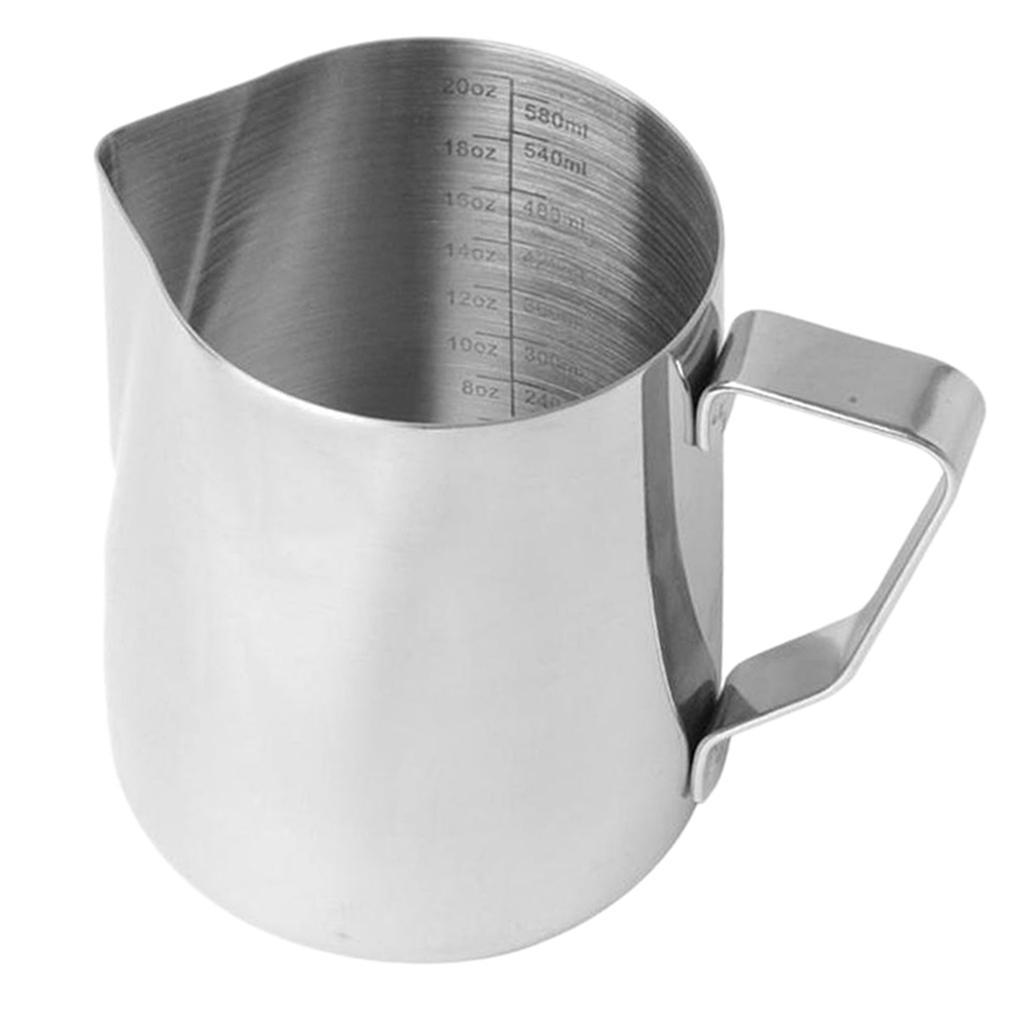 Milk-Frothing-Pitcher-Stainless-Steel-Creamer-Frothing-Pitcher-350-600ml thumbnail 20