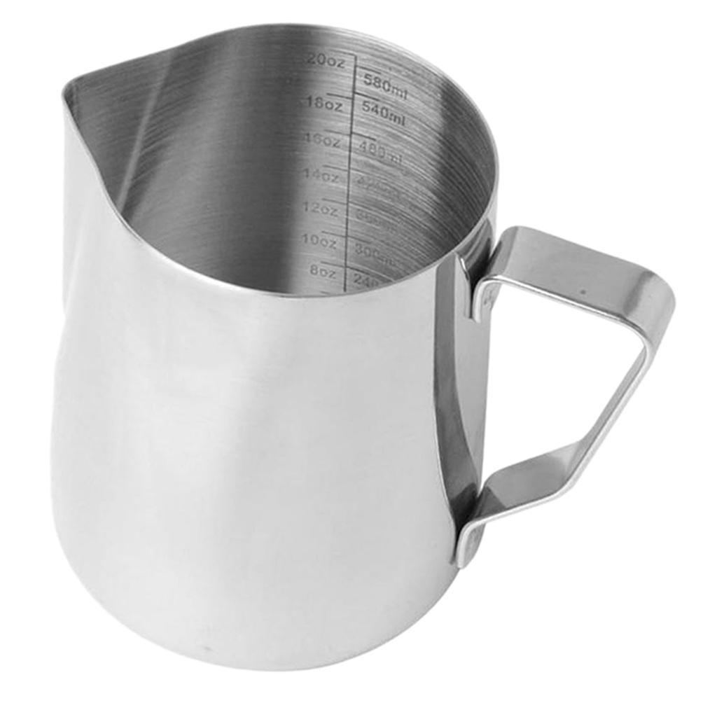 Milk-Frothing-Pitcher-Stainless-Steel-Creamer-Frothing-Pitcher-350-600ml thumbnail 21