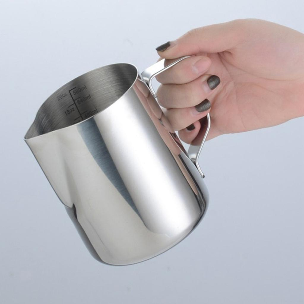 Milk-Frothing-Pitcher-Stainless-Steel-Creamer-Frothing-Pitcher-350-600ml thumbnail 22