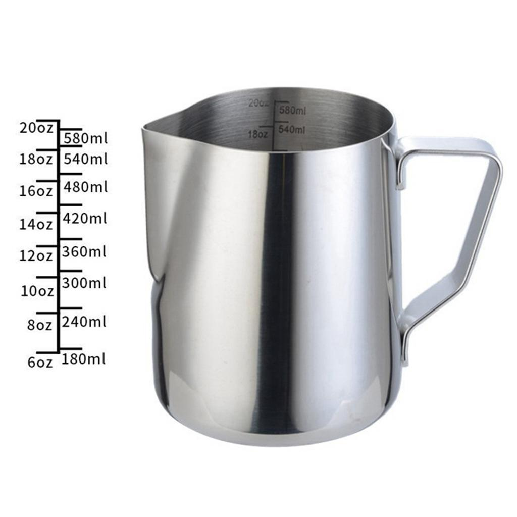 Milk-Frothing-Pitcher-Stainless-Steel-Creamer-Frothing-Pitcher-350-600ml thumbnail 24