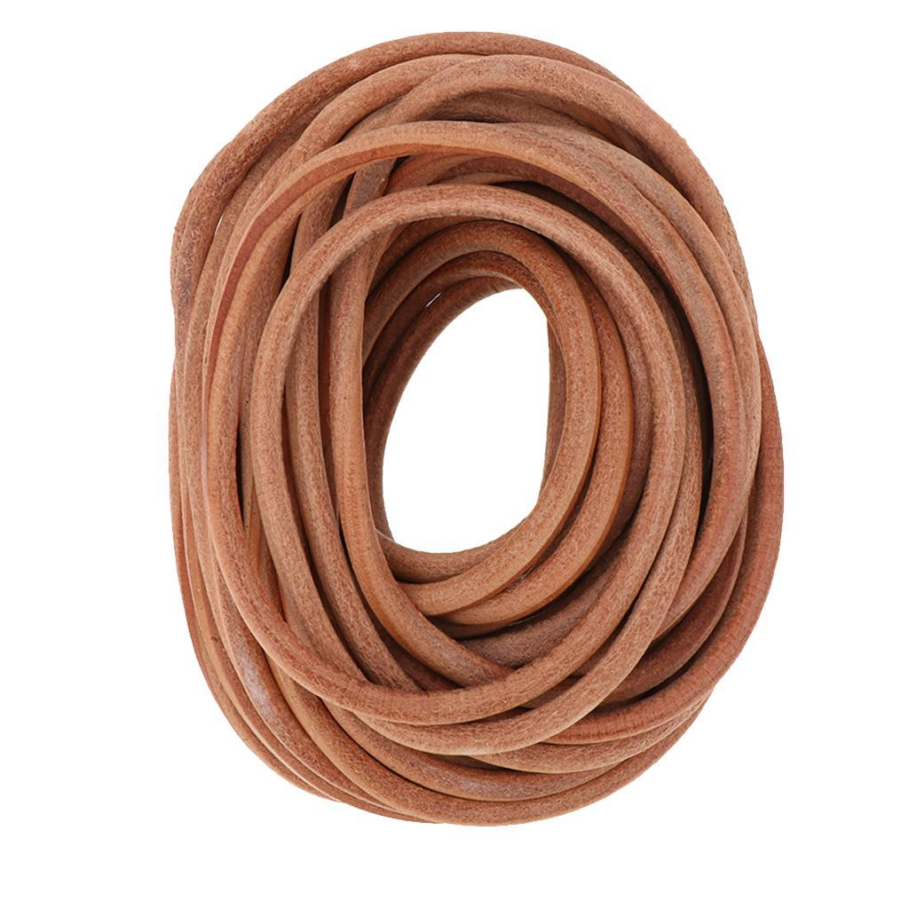 10-Meters-Round-Leather-Cord-Cowhide-Leather-Cord-5mm-6mm-8mm-Diameter miniature 5