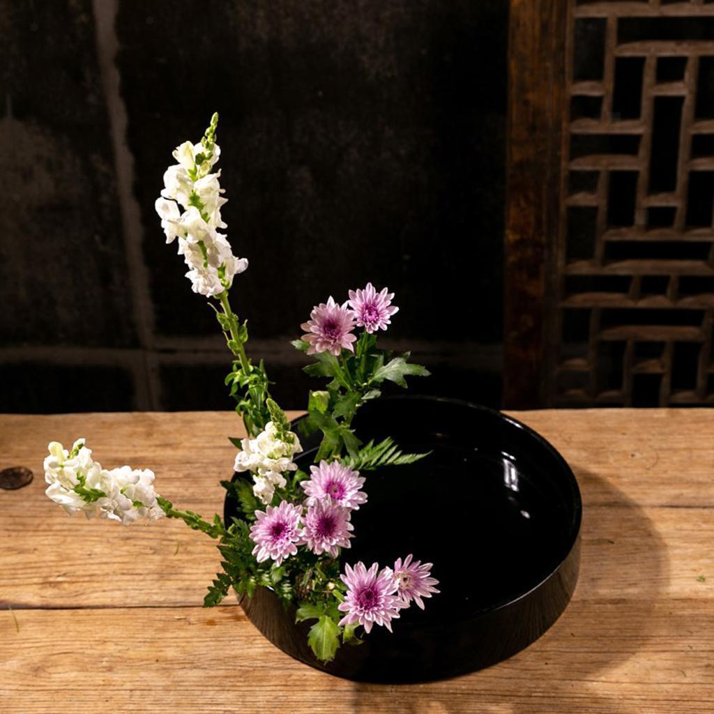 Blesiya-Round-Suiban-Vase-Pot-Tray-Container-for-Ikebana-Flower-Arrangements thumbnail 3