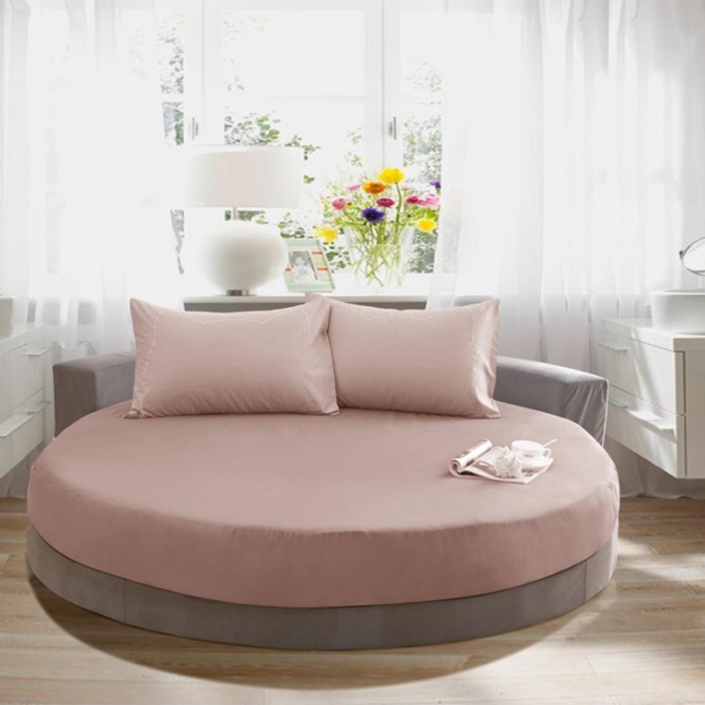Pure Cotton Round Bed Bedding Sheet Cover Slipcover Home Textile 220cm