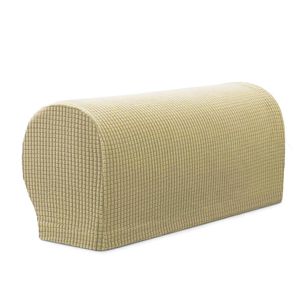 Set of 2 Flannel Elastic Stretch Armrest Covers Couch ...