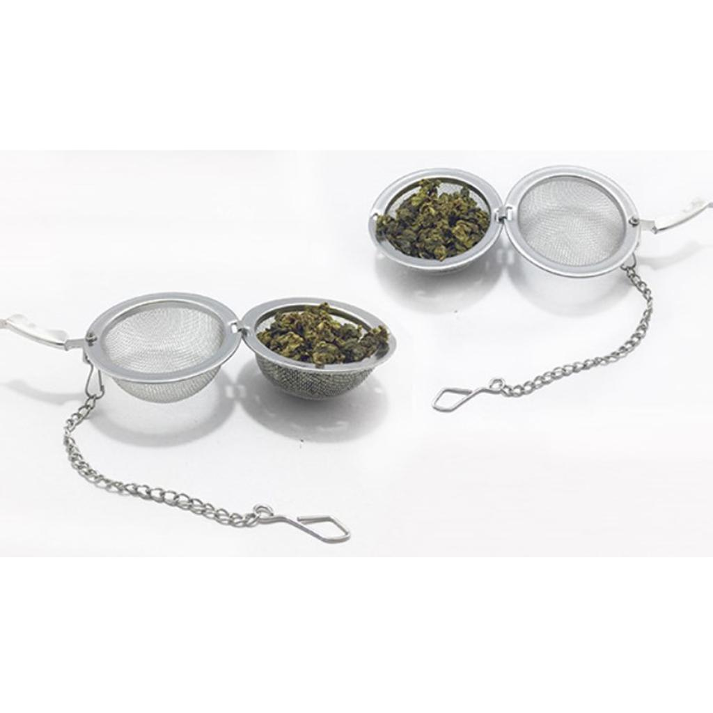 Stainless-Steel-Infuser-Strainer-Mesh-Tea-Filters-Spoon-Locking-Spice-Ball thumbnail 16
