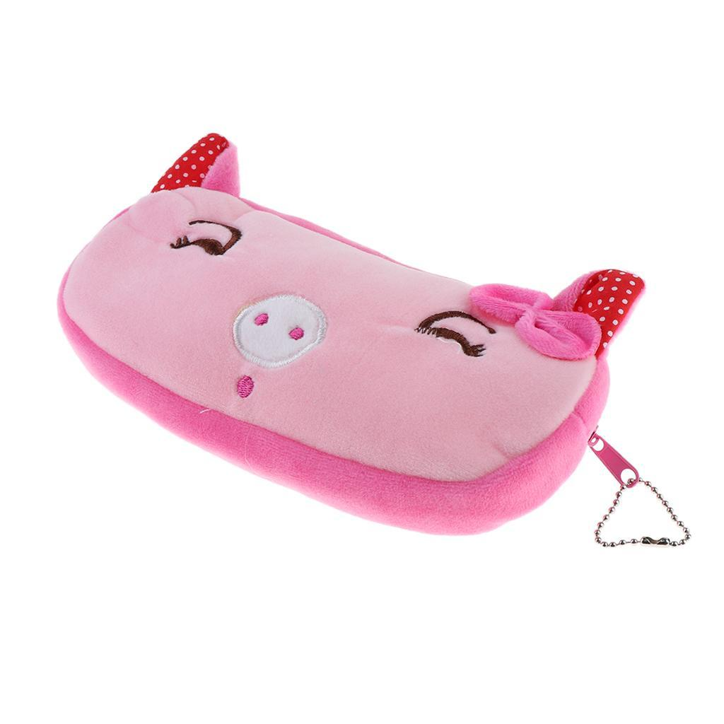Pencil-Pouch-Plush-Stationery-Bag-Animal-Cosmetic-Bags-School-Supplies thumbnail 19