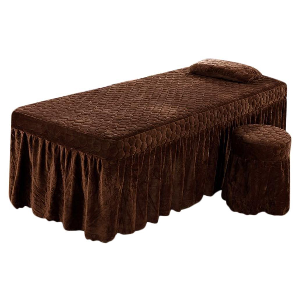 SPA-Massage-Bed-Bedding-Linen-Set-Table-Skirts-Pillow-Case-Stool-Cover thumbnail 15