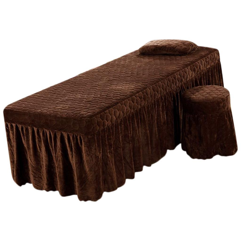 SPA-Massage-Bed-Bedding-Linen-Set-Table-Skirts-Pillow-Case-Stool-Cover thumbnail 16