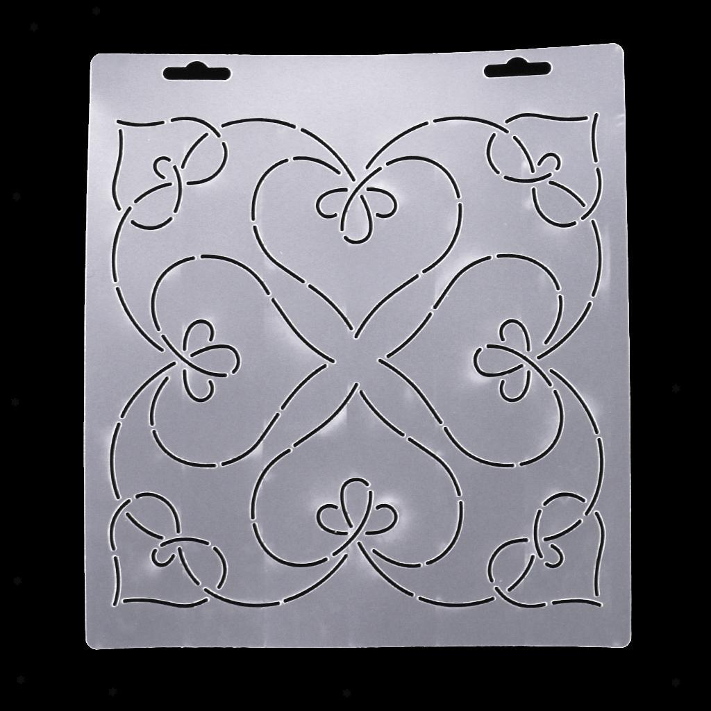 1pc-Plastic-Embroidery-Quilting-Templates-amp-Stencils-Sewing-Patchwork-Tools-DIY thumbnail 23