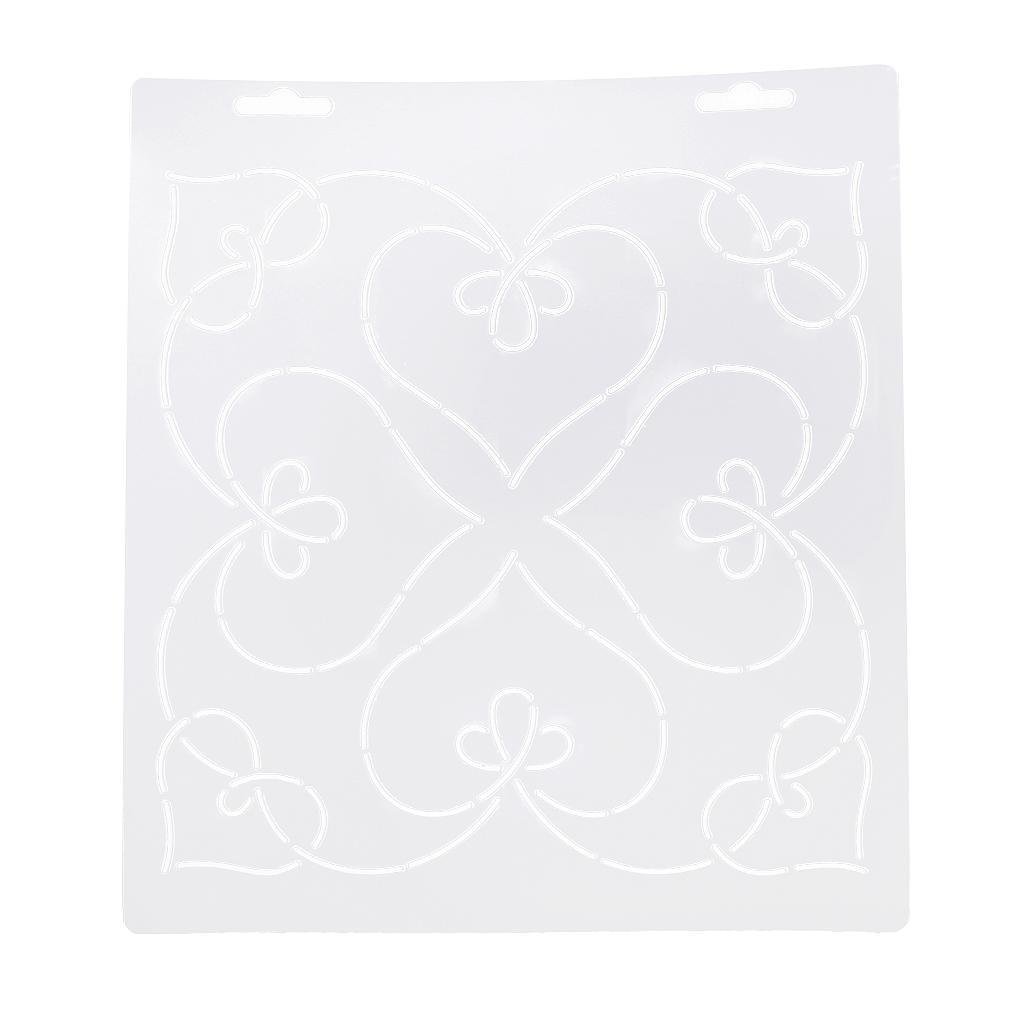 1pc-Plastic-Embroidery-Quilting-Templates-amp-Stencils-Sewing-Patchwork-Tools-DIY thumbnail 16