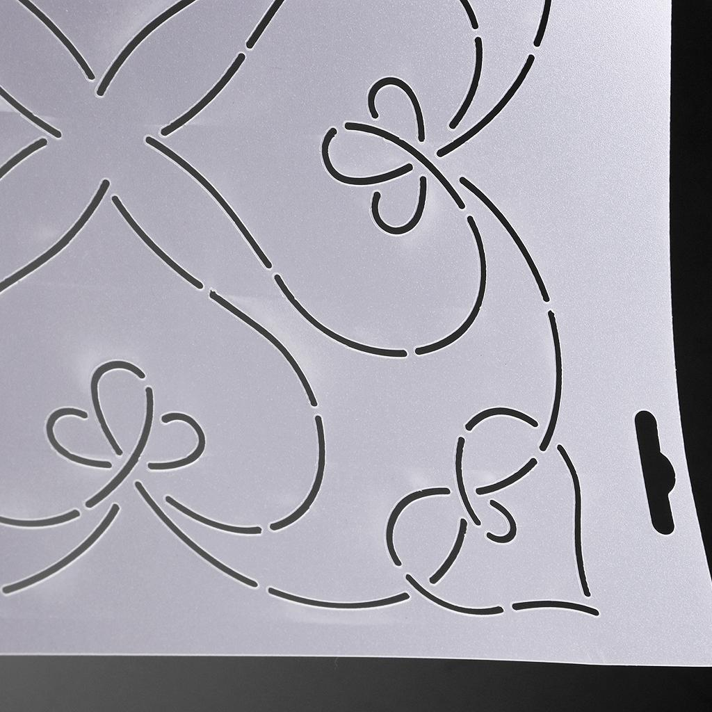 2Pcs Plastic Quilting Quilt Stencil Painting Craft Template Sewing Tools