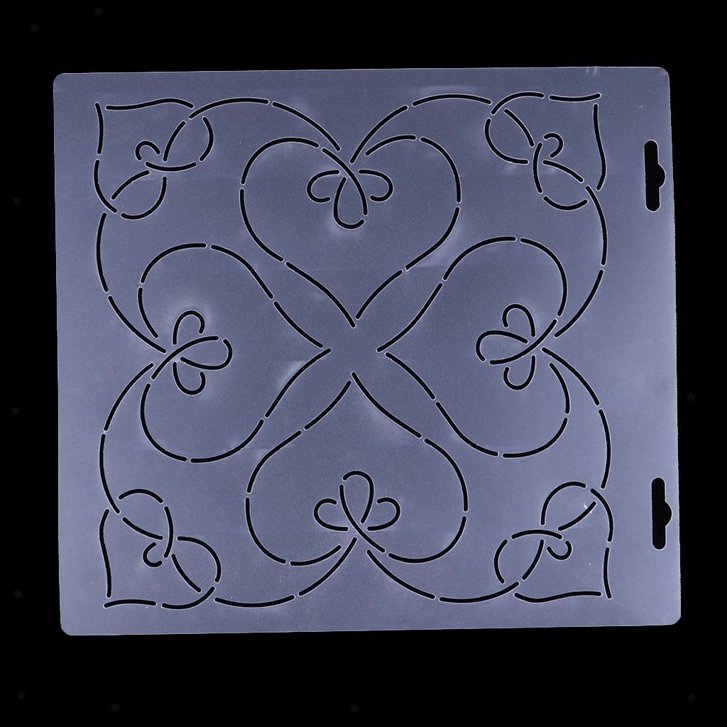 1pc-Plastic-Embroidery-Quilting-Templates-amp-Stencils-Sewing-Patchwork-Tools-DIY thumbnail 18