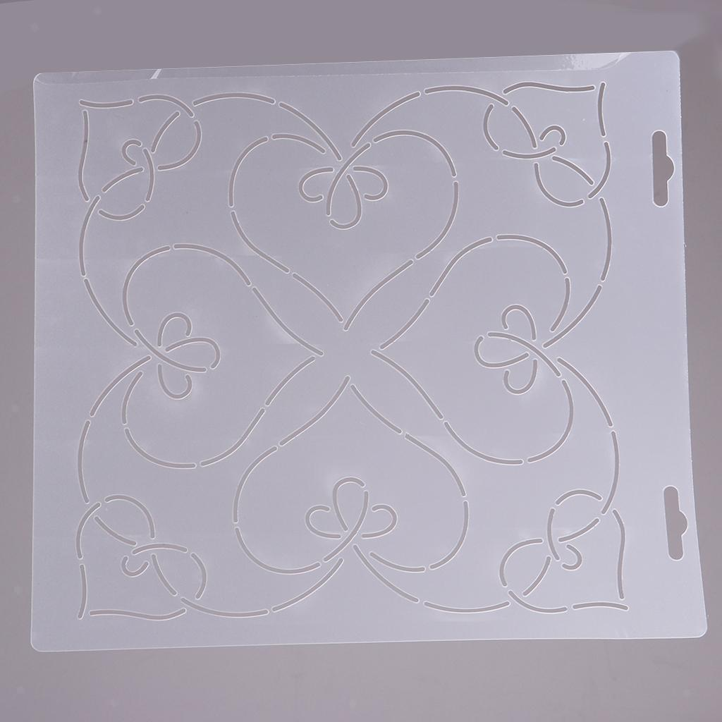 1pc-Plastic-Embroidery-Quilting-Templates-amp-Stencils-Sewing-Patchwork-Tools-DIY thumbnail 20