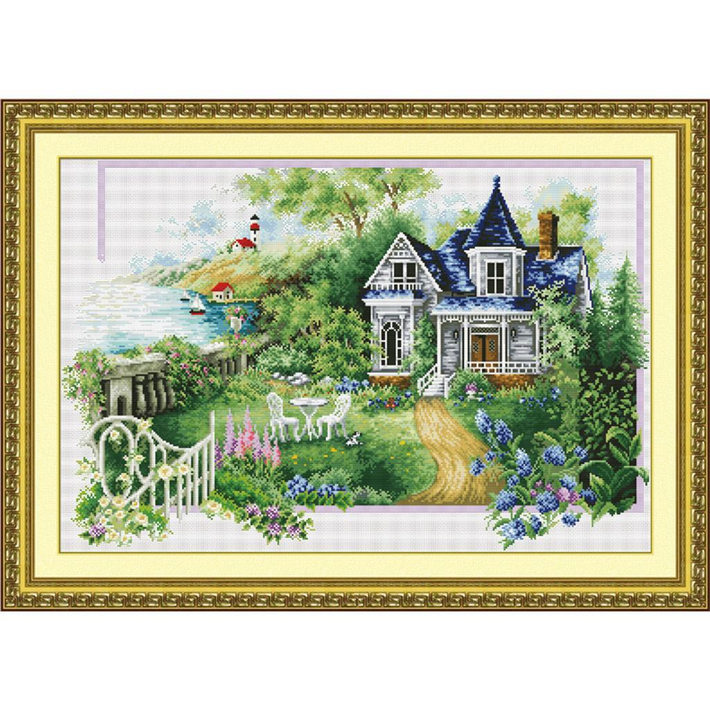Stamped-amp-Counted-Cross-Stitch-Kit-Embroidery-Crafts-Needlecraft-Seasons thumbnail 13