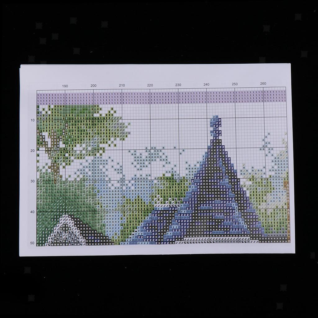 Stamped-amp-Counted-Cross-Stitch-Kit-Embroidery-Crafts-Needlecraft-Seasons thumbnail 12