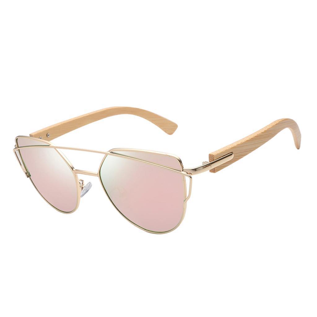 uomo-donna-moda-in-legno-uv-400-lenti-piatte-occhiali-da-sole-con-gambe-di miniatura 17