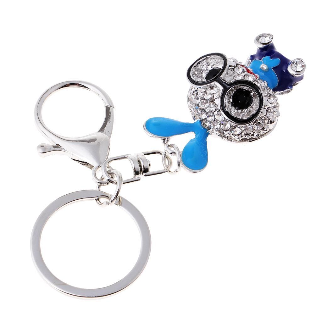 Cartoon-Rabbit-Model-Crystal-Keychains-Charm-Pendent-Purse-Bag-Car-Keyring thumbnail 7
