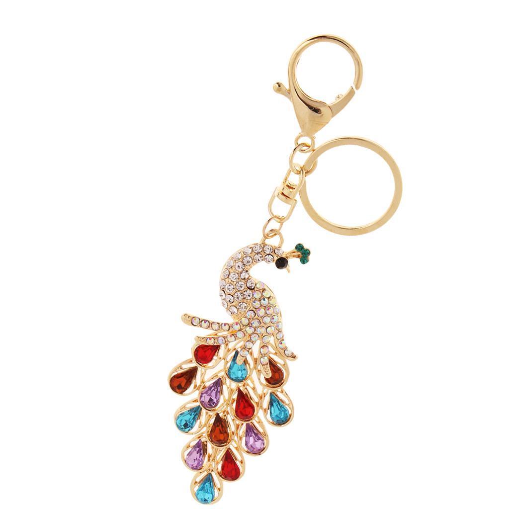 Alloy-Fashion-Flamingo-Rhinestone-Keyring-Bag-Hanging-Decor-Women-Keychain thumbnail 30
