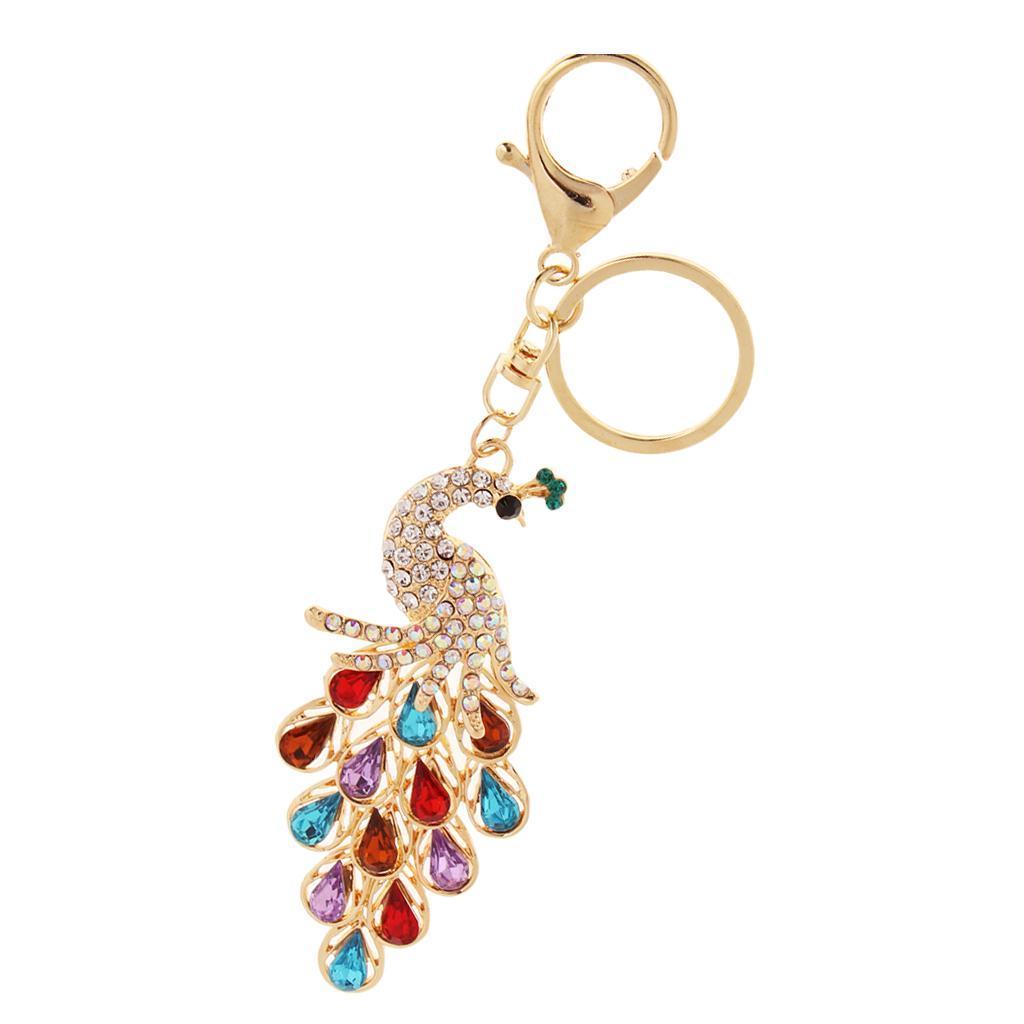 Alloy-Fashion-Flamingo-Rhinestone-Keyring-Bag-Hanging-Decor-Women-Keychain thumbnail 31