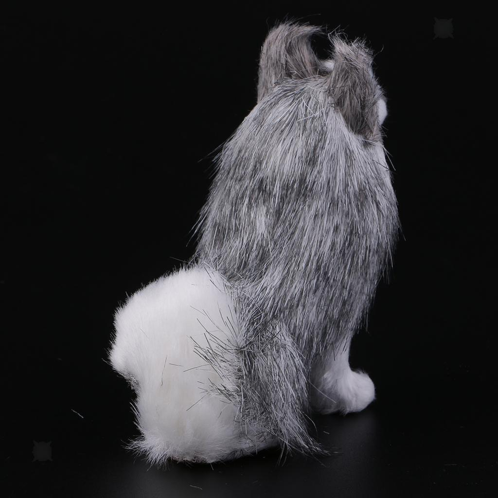 Lovely Animal Dachshund/Huskie Dog Ornaments Mini Garden ...