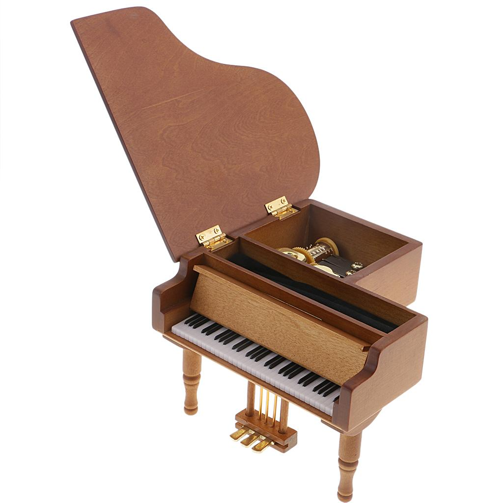 Boîte à musique en bois à manivelle rétro ornements enfants cadeau Jouet musical