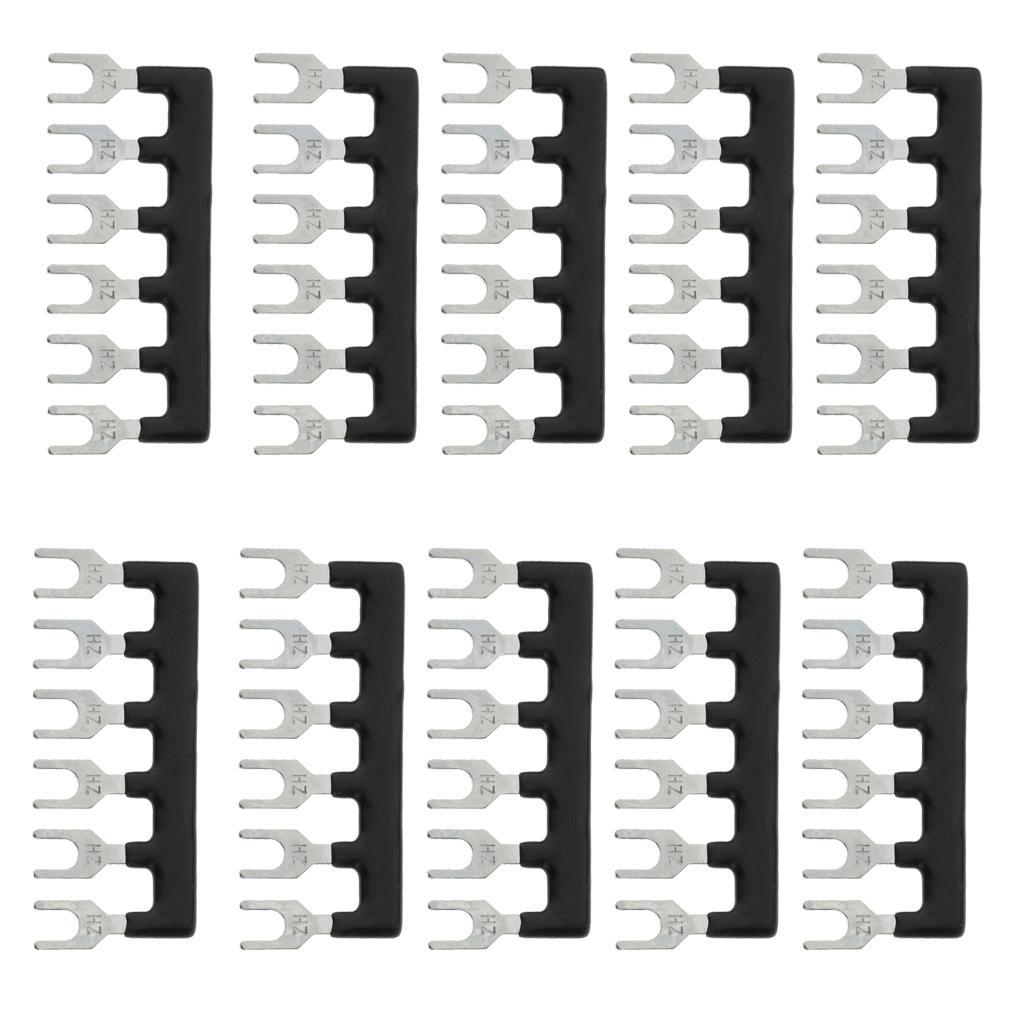 10-Pcs-6-Positions-Terminal-Block-Barrier-Strip-Jumper-Fork-Type thumbnail 6