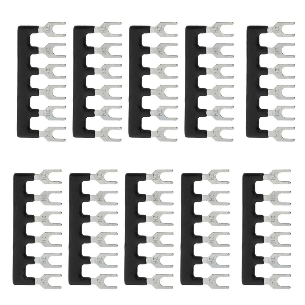 10-Pcs-6-Positions-Terminal-Block-Barrier-Strip-Jumper-Fork-Type thumbnail 7