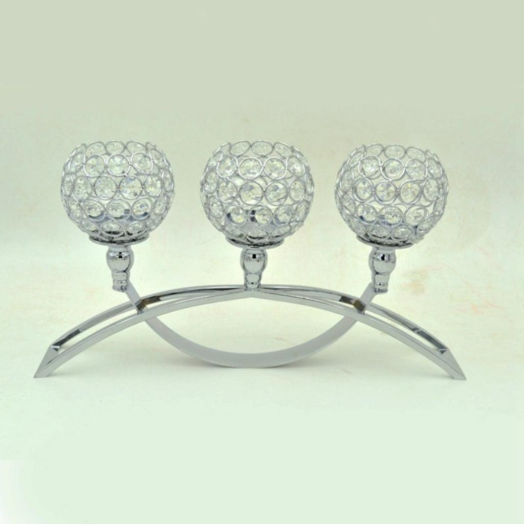 Crystal-Candle-Holder-Wedding-Banquet-Candlestick-Table-Romantic-Centerpiece thumbnail 8