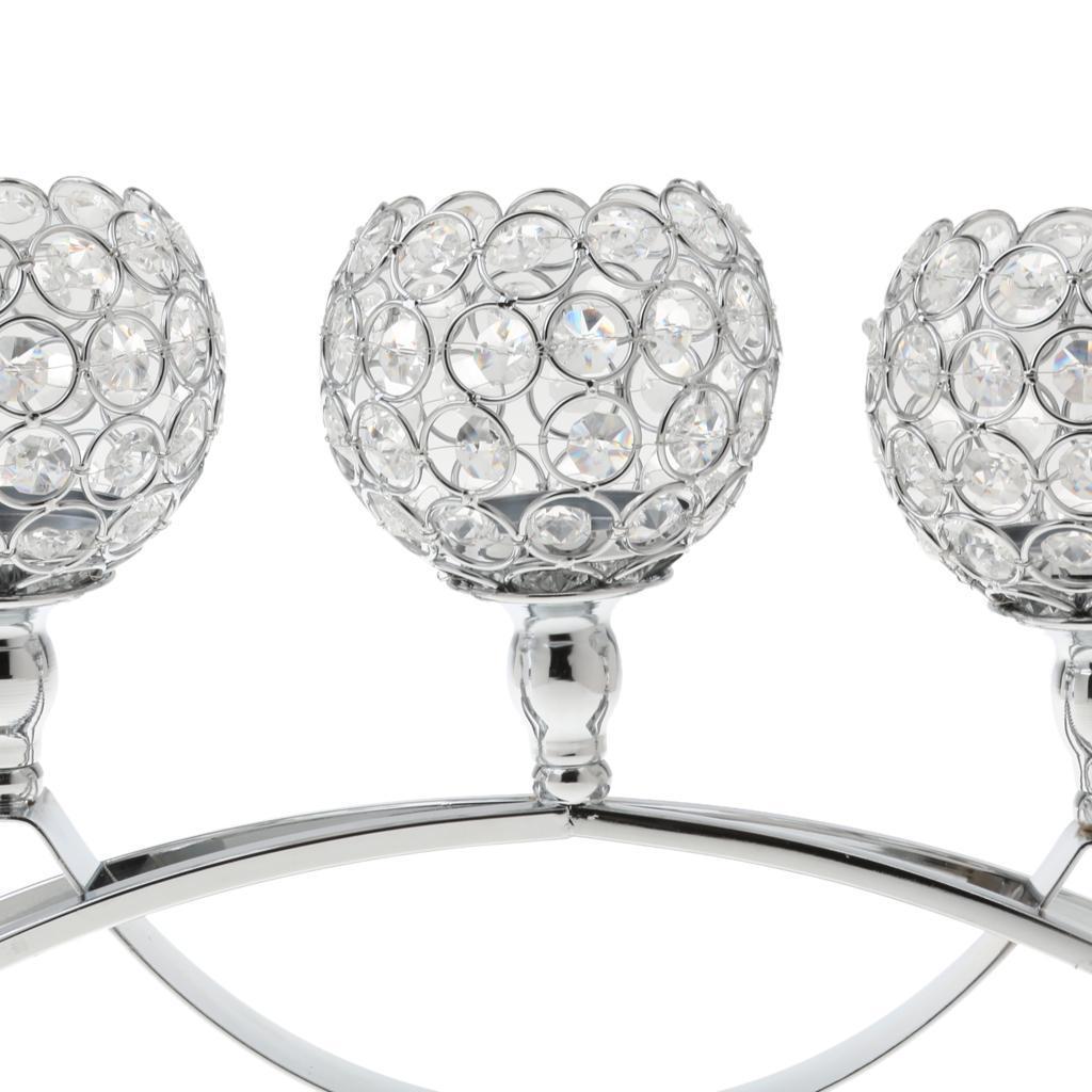 3-Design-Arm-Pillar-Crystal-Cup-Candle-Holder-Candelabra-Wedding-Table-Decor thumbnail 17