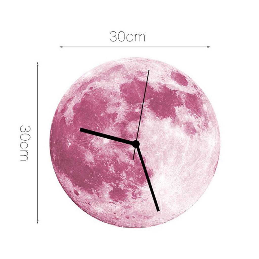 Indoor-Decorative-Wall-Clock-12inch-Luminous-Moon-Battery-Operated-Silent thumbnail 24