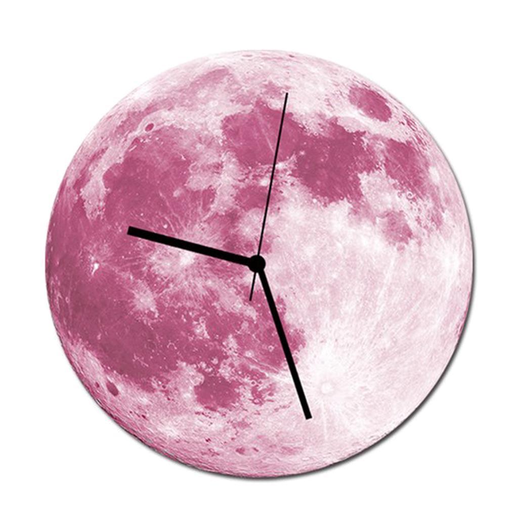Indoor-Decorative-Wall-Clock-12inch-Luminous-Moon-Battery-Operated-Silent thumbnail 22