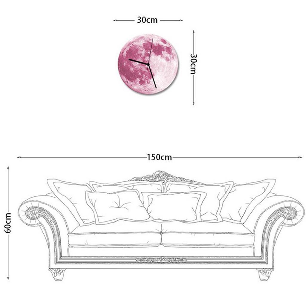 Indoor-Decorative-Wall-Clock-12inch-Luminous-Moon-Battery-Operated-Silent thumbnail 23