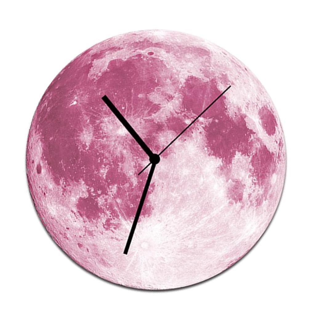 Indoor-Decorative-Wall-Clock-12inch-Luminous-Moon-Battery-Operated-Silent thumbnail 20
